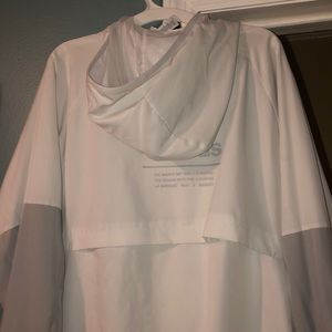 adidas Tops - White adidas zip up jacket men's large